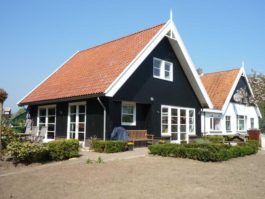 uitbreiding woning buitengebied in landelijke stijl