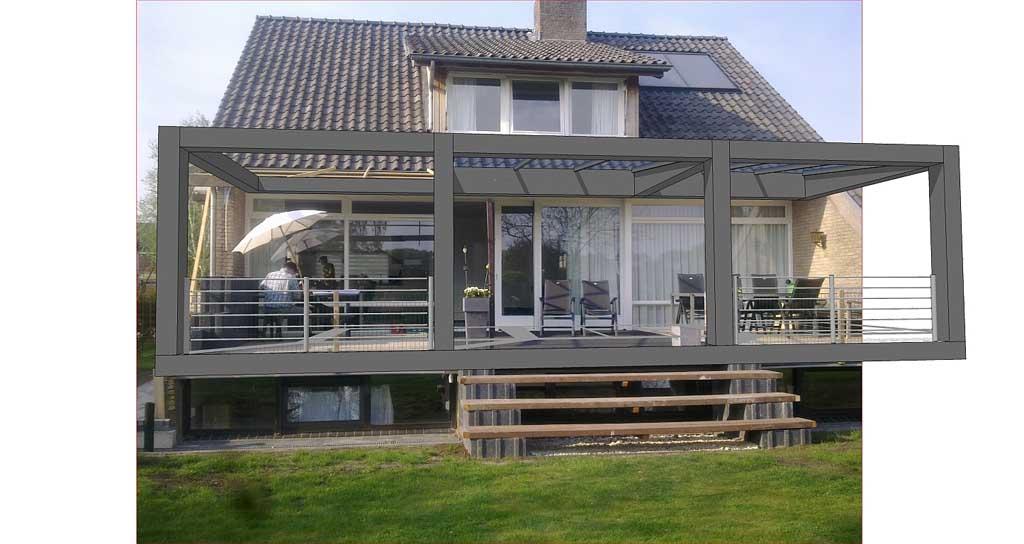 Ontwerp veranda schaepers - Uitbreiding veranda ...